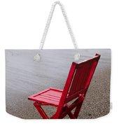 Red Chair On The Beach Weekender Tote Bag