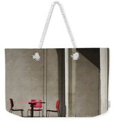 Red Chairs Weekender Tote Bag