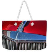 Red Chevrolet Grill And Hood Ornament Weekender Tote Bag
