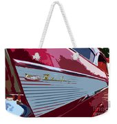Red Chevy Weekender Tote Bag