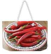 Red Chilis Weekender Tote Bag