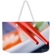 Red Chopsticks Weekender Tote Bag