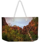 Red Cliffs Mountains Zion National Park Utah Usa Weekender Tote Bag