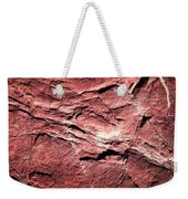 Red Colored Limestone With Grooves Weekender Tote Bag
