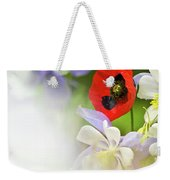 Red Corn Poppy Weekender Tote Bag