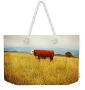 Red Cow On The Blue Ridge Weekender Tote Bag