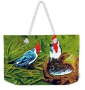 Red-crested Cardinal Birds #77 Weekender Tote Bag