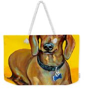 Red Dachshund - Tigger Smiles Weekender Tote Bag