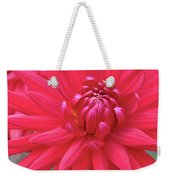 Red Dahlia Delight Weekender Tote Bag