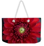 Red Dahlia Square Weekender Tote Bag
