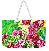 Red Dahlias Weekender Tote Bag