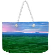 Red Dawn Over The Palouse Weekender Tote Bag