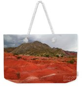 Red Desert Landscape Torotoro National Park Bolivia Weekender Tote Bag