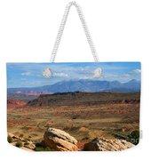 Red Desert With La Sal Mountains Weekender Tote Bag