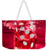 Red Dice Splash Weekender Tote Bag