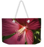 Red Disco Belle Hibiscus Painting Weekender Tote Bag