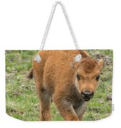 Red Dog Bison In Yellowstone Weekender Tote Bag