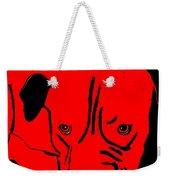 Red Dog Weekender Tote Bag