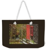 Red Door At The Grist Mill In Fall 2017  Weekender Tote Bag