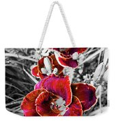 Red Double Lily Weekender Tote Bag