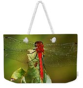 Red Dragon Fly Weekender Tote Bag