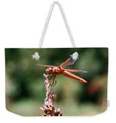 Red Dragonfly II Weekender Tote Bag