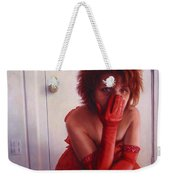 Red Dress Weekender Tote Bag by James W Johnson
