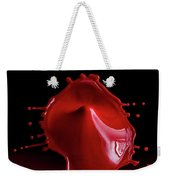 Red Drop Weekender Tote Bag