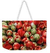 Red Elegant Blooming Tulips  Weekender Tote Bag