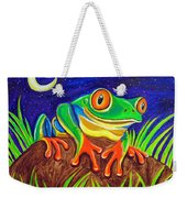 Red-eyed Tree Frog And Starry Night Weekender Tote Bag