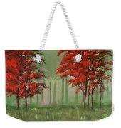 Red Fall  Weekender Tote Bag