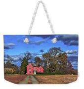Red Farm House Weekender Tote Bag