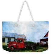 Red Farm Truck Weekender Tote Bag