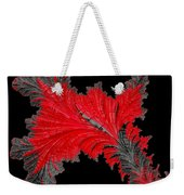 Red Feather - Abstract Weekender Tote Bag