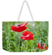 Red Field Poppies Weekender Tote Bag