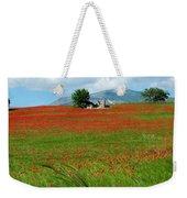 Red Fields Weekender Tote Bag