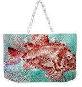 Red Fish Weekender Tote Bag