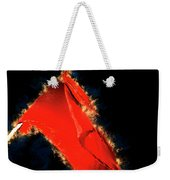 Red Flag On Black Background Weekender Tote Bag
