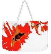 Red Floating Florals Weekender Tote Bag