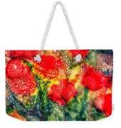 Red Floral Abstract Weekender Tote Bag