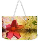 Red Floral Grunge Weekender Tote Bag