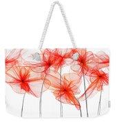 Red Floral - Red Modern Art II Weekender Tote Bag