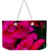 Red Floral Study Weekender Tote Bag by David Lane