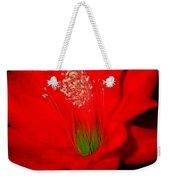 Red Flower For You Weekender Tote Bag