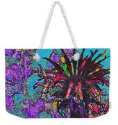 Red Flower In The Garden Weekender Tote Bag