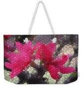 Red Flowered Peach Weekender Tote Bag