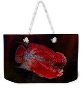 Red Flowerhorn Cichlid Weekender Tote Bag