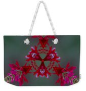 Red Flowers Abstract Weekender Tote Bag