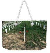 Red Flowers In Arlington Weekender Tote Bag
