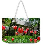 Red Flowers In Central Park Weekender Tote Bag